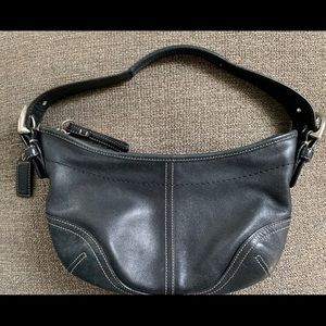 Mini black leather Coach shoulder bag